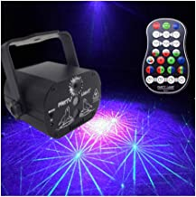 JCCOZ-URG LED Stage Laser Light, 60 Patterns, Rechargeable Flash, Voice-Controlled Automatic Remote Control (Laser Light) ...
