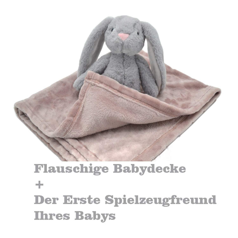 Ma/ße: 100 x 75 cm Weiche Kuscheldecke f/ür Babys und B/ären ab 0 Monaten um Punktdecke f/ür Babys B/ärenpl/üschtier AKK BABY Kuscheldecke mit Spielzeuggeschenk f/ür Babys