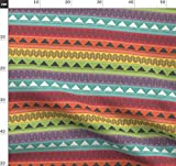 Streifen, Indigen, Türkis, Grün, Geometrisch, Rot,