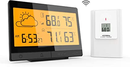 Ximble Ambient Weather Station with Humidity Sensors (Wireless) Accurate Time, Temperature, and Forecast | Remote Outdoor Connectivity | Precision Reliability