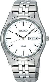 Men's Analogue Classic Solar Powered Watch with Stainless Steel Strap SNE031P1