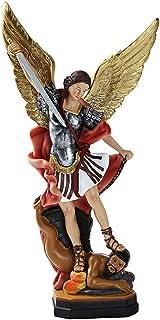 Figura DE San Miguel ARCANGEL con *Estuche DE Madera* Estatua ESTATUILLA DE San Miguel 14 CM. Arte Sacro