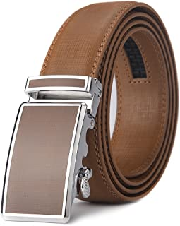 ae05da930 XDeer Men s Leather Ratchet Dress Belts with Automatic Buckle Gift Box  (Waist  36-