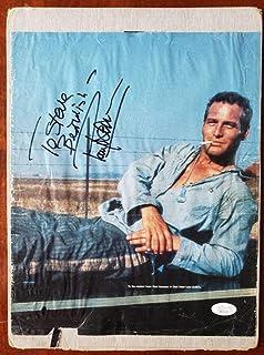 Paul Newman Coa Hand Signed 10x12 Vintage Photo Autograph - JSA Certified