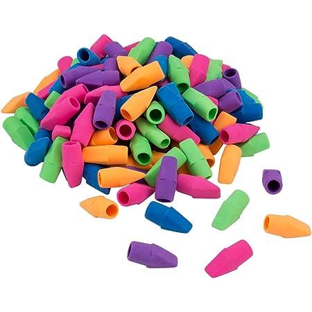 Mixed Colors in Bulk Pack of 120 Pencil Top Eraser Caps Arrowhead Eraser Top Cap for Any Standard Pencil