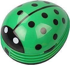 Mini Portable Handheld Cordless Tabletop Crumb Sweeper Desktop Dust Vacuum Cleaner Cute Beetle Ladybug Battery Operated (G...