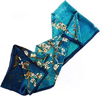 Scarves and Wraps Scarfs for Women Shawls and Wraps for Evening Dresses Women Suitable for Office Party Dates Suitable for Spring Summer and Winter Pure Silk Pure Silk (Color : Blue)