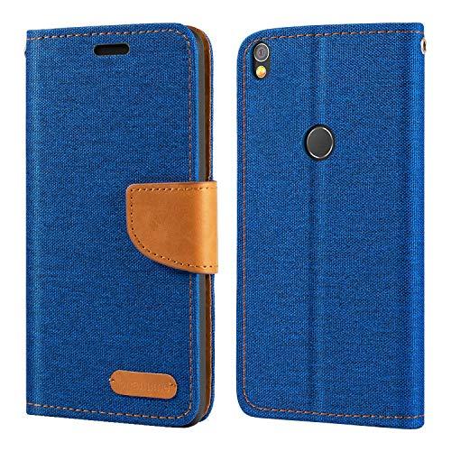 Alcatel Shine Lite Hülle, Oxford Leder Wallet Hülle mit Soft TPU Back Cover Magnet Flip Hülle für Alcatel Shine Lite