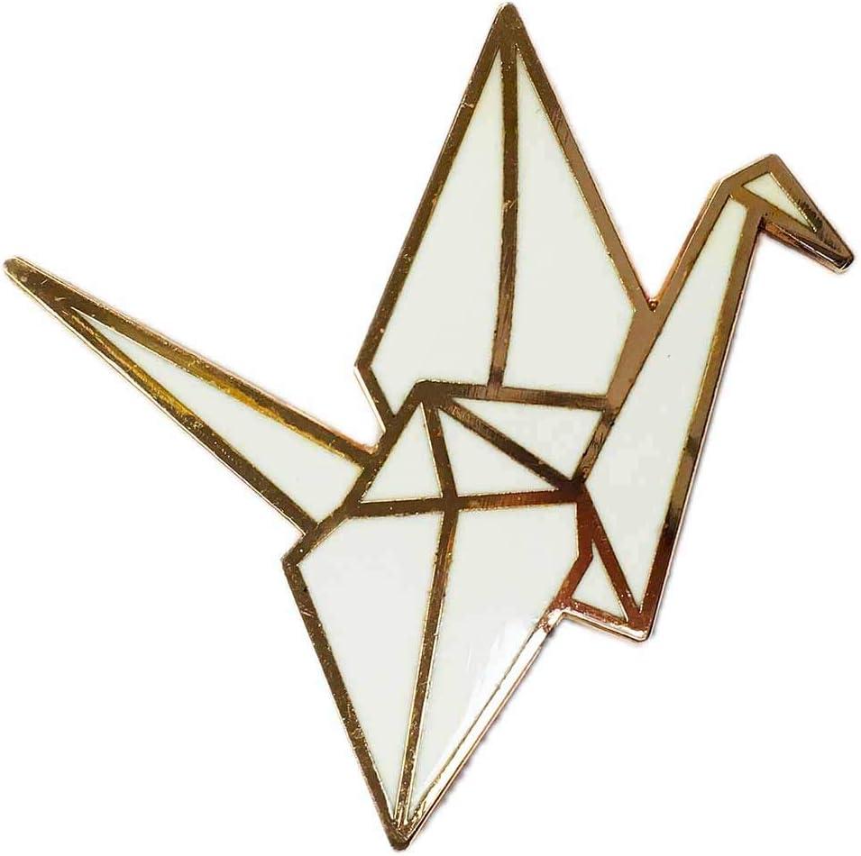 Brand new Paper New arrival Crane Enamel Pin