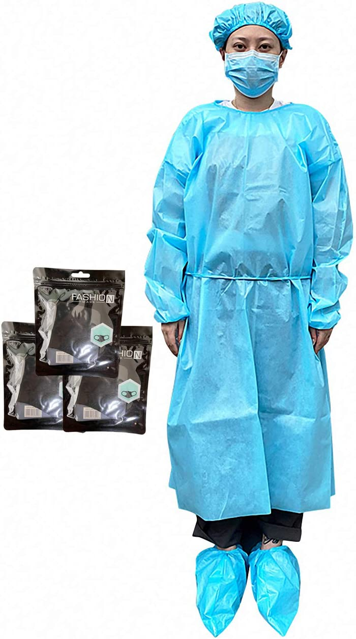 HINCINK 30 Pack Disposable Protective Isolation Gowns Fu Max Don't miss the campaign 45% OFF