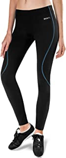 Women's Thermal Cycling Tights Fleece-Lined Athletic Bike Pants Compression Tights