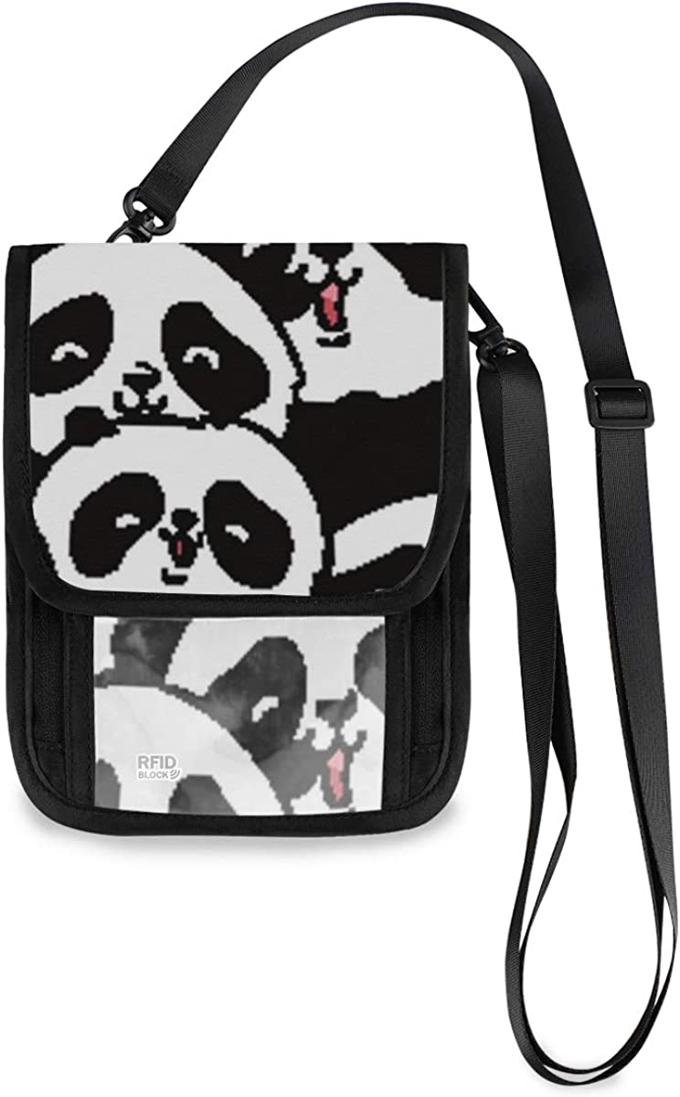 RFID Blocking Sale shopping Travel Neck Wallet Hol Passport Panda? - Cute