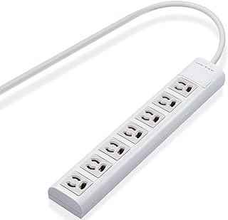 エレコム 電源タップ マグネット付 抜け止めコンセント 3pin-2pin変換アダプタ付 3pin 7個口 5m ホワイト T-H3750NM