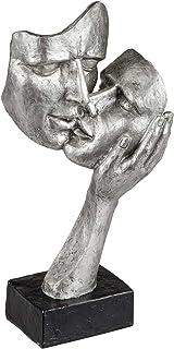 Lifestyle & More Décoration Exclusive Buste Sculpture Amateurs en céramique Noir/Argent Hauteur 30 cm