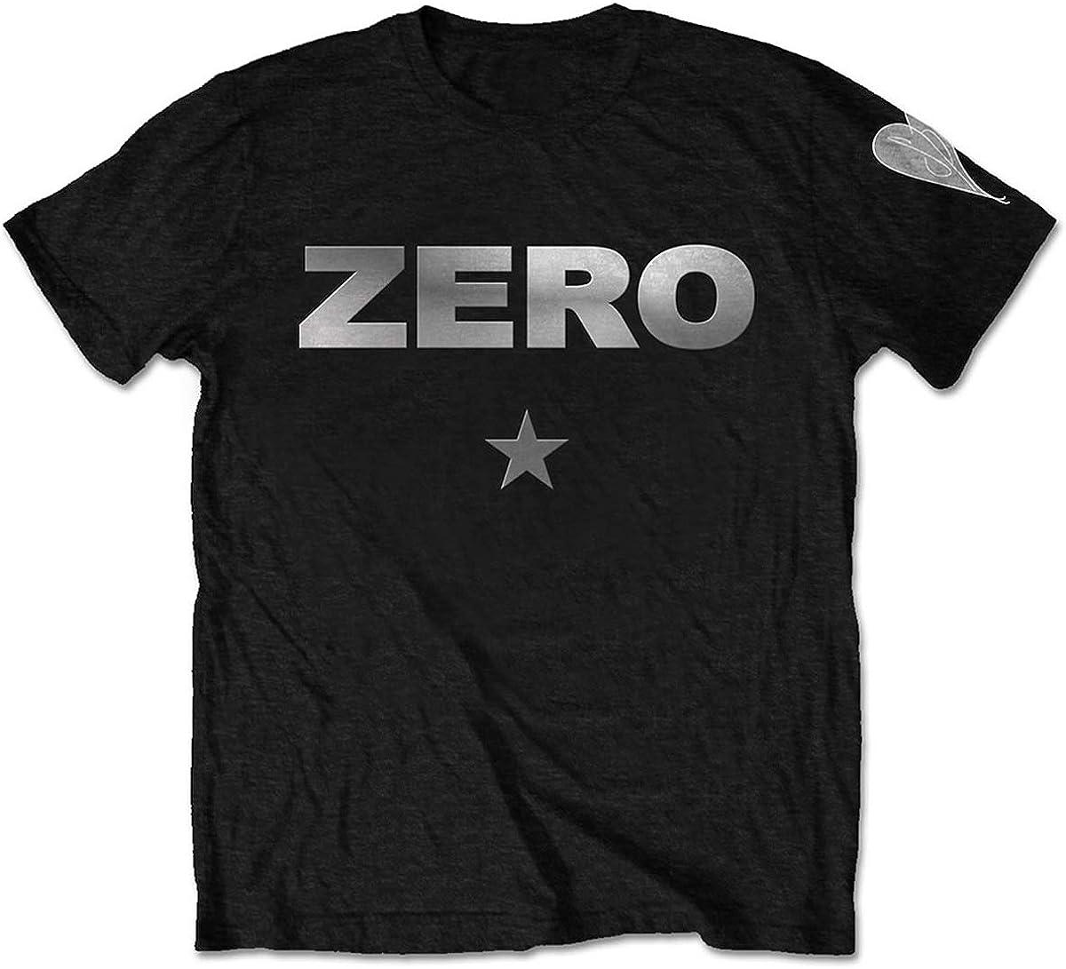 New popularity Smashing Pumpkins Men's Zero Black Slim 70% OFF Outlet Fit T-Shirt