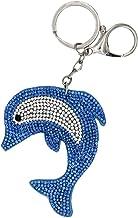 5x Delfin Schlüsselanhänger mit Schlüsselring Delphin transparent blau weiß Neu
