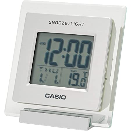 CASIO(カシオ) 目覚まし時計 シルバー デジタル 温度 カレンダー 表示 ミニサイズ DQ-735-8JF