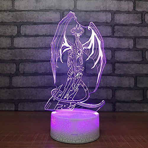 Dierlijke bot 3D-lamp optische illusie 3D kinderen nachtlampje 7 kleuren veranderende baby kinderkamer nachtlampje voor de kinderkamer Home Decor