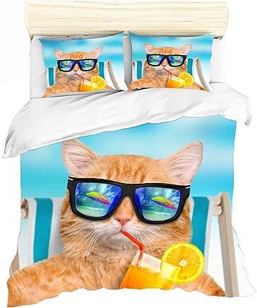 Amazon.es: ropa gatos - Juegos de fundas para edredón ...