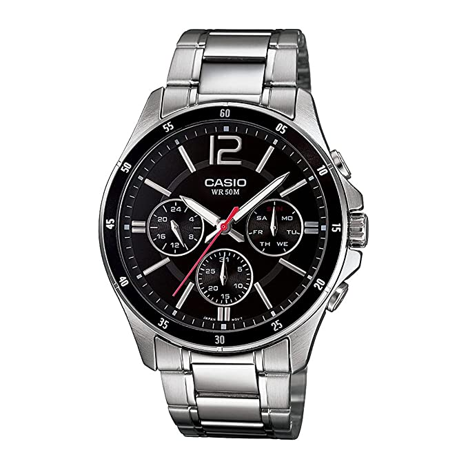 Casio Enticer Men Analog Black Dial Watch MTP 1374D 1AVDF  A832  Wrist Watches