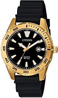Citizen Men's Stainless Steel Japanese Quartz Polyurethane Strap, Black, 22 Casual Watch (Model: BI1043-01E)