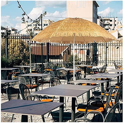 Sombrillas de Playa para Patio, sombrilla de sombrilla Vertical Hawaiana para Exteriores, sombrilla Plegable Impermeable, sombrilla de Paja para jardín, balcón