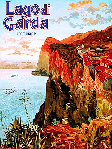 A SLICE IN TIME Lago di Lake Garda Italy Italian European Vintage Travel Advertisement Poster