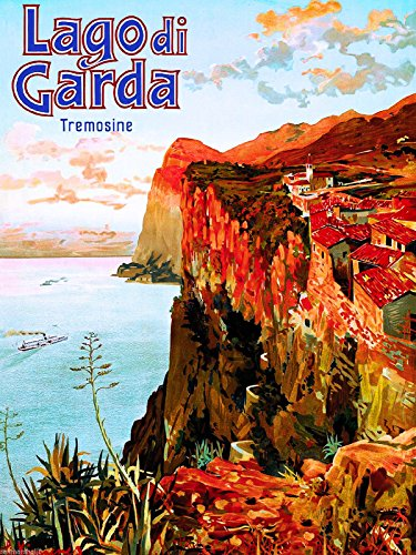 A SLICE IN TIME Lago di Lake Garda Italy Italian European Vintage Travel Advertisement Poster