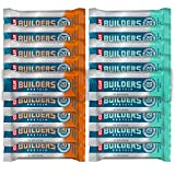 Clif Bar - Builder's Protein Bar Variety Pack, 20g of Protein (Chocolate Mint & Chocolate Peanut Butter) - 18 Count