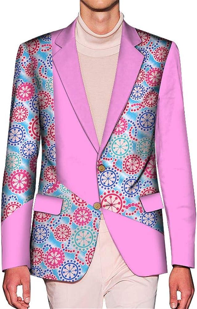 ELISCO Men's Long-Sleeve Button-Front Blazer Business Clothing Slim Fit Suit