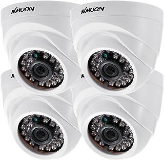 KKmoon 4 * 1080P 2000TVL AHD Domo IR CCTV Cámara + 4 * 60 ft Monitoreo Cable Soporte Infrarrojos Night Vision 24pcs lámparas Infrarrojos 1/29 Pulgadas CMOS para la Seguridad en casa
