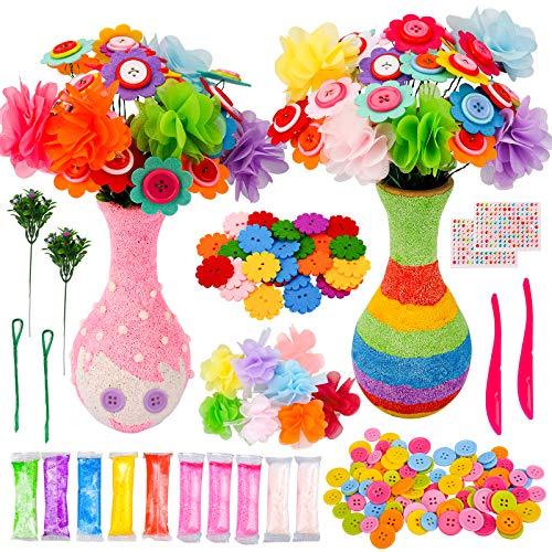 Kinder Geschenke für Mädchen Jungen Alter 5-12, Kunsthandwerk Sets Geschenke für 7 8 9 10 11 Jahre Kinder Mädchen Mädchen DIY Blumen Bastelsets Kinder Spielzeug für Kinder Mädchen Jungen Geschenke