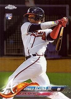 2018 Topps Chrome Baseball #193 Ronald Acuna Jr. Rookie Card