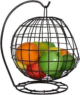 Plateau de fruits Creative Mode Fer Forgé Hanging Basket Fruit Basket Fruit Bowl de vidange Panier de rangement Salon Déco...