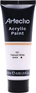 Artecho Acrylic Paint for Art Paint, Halloween Decorations, Titanium White 4.05 Ounce/120ml Acrylic Paint Supplies for Woo...
