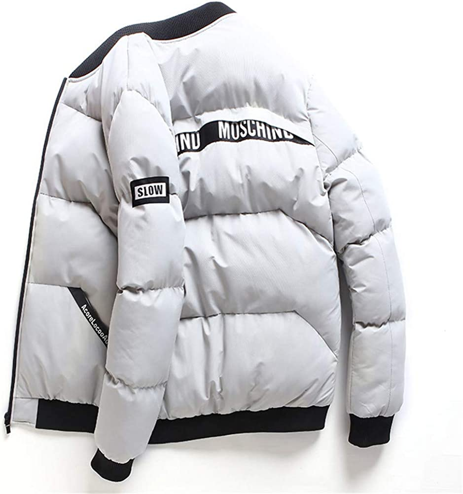 EFFIE Men's Casual Hooed Hoodies Pure Cotton Warm Winter Jacket Coats (Gray, XXXL)