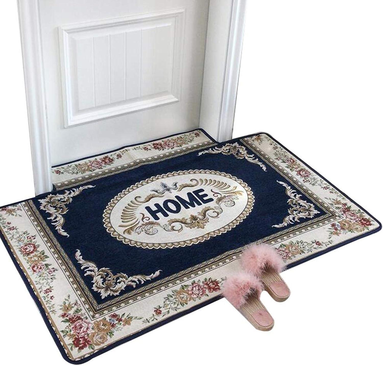 JIAJUAN Welcome Doormat Indoor Entryway Rug Non-Slip Water Absorption Large Floor Mats for Home (color   bluee, Size   90x140cm)