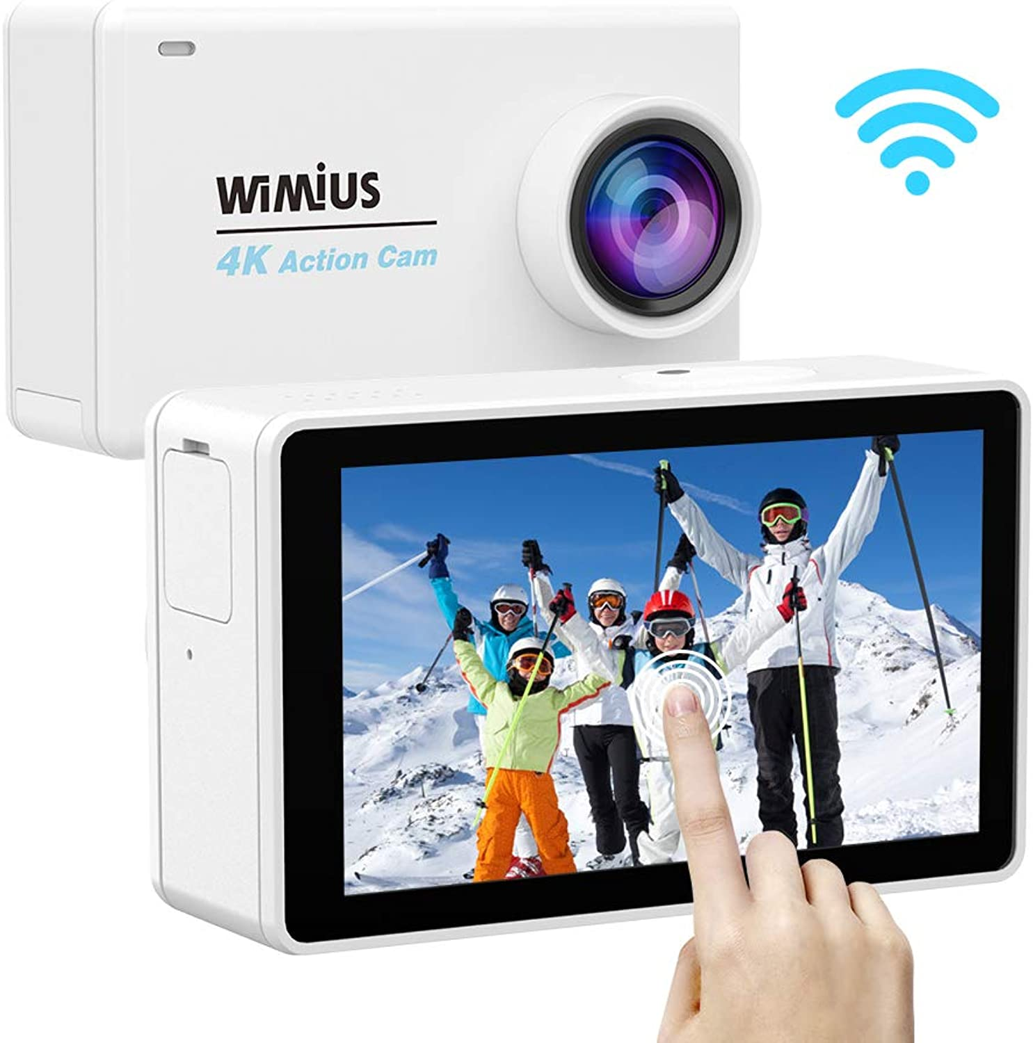 WIMIUS [action cam 4K touch screen  Sports Camera wideangle WIFI wearable camera drive recorder 2.45LCD security camera video camera 4K