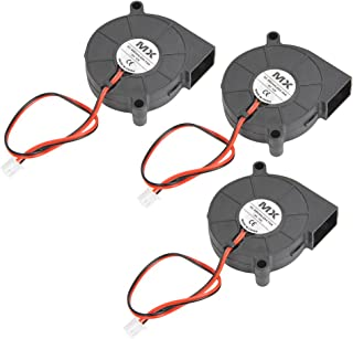 YOTINO 3Pcs Ventiladores de Impresora 3D 5015 Ventilador de DC 12V para Impresora 3D 50 x 50 x 15 mm (Negro) Accesorios de impresora 3D