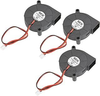 YOTINO 3Pcs 5015 Fan 12V 0.23A 3D Printer Cooling Fan Blower Radial Fan for Prusa i3 Creality CR10(50 x 50 x 15mm, Black)