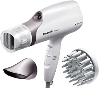 Panasonic New Nanoe Salon Hair Dryer with Oscillating Quick-Dry Nozzle, Diffuser and Concentrator Attachments, 3-Speed Heat Setting for Easy Styling & Healthy Hair, EH-NA67-W (White)