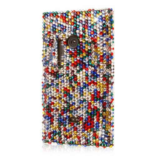 Empire Glitz Schutzhülle mit Bildschirmschutzfolie für Nokia Lumia 1020, glitzernd, Mehrfarbig