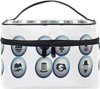 Santa Claus Featured Poster Christmas Gift Waterproof Cosmetic Bag Travel Cosmetic Bag Storage Box Mini Makeup Train Bag Suitable Capacity Portable