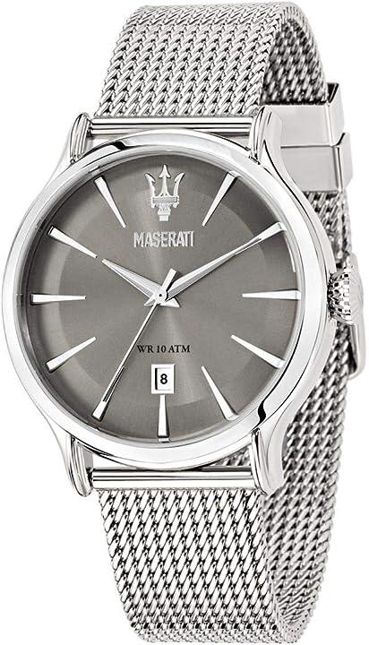 Orologio da uomo, collezione epoca, movimento al quarzo, tempo e data , in acciaio - r8853118002 8033288680918