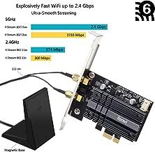 fenvi PCIe Wifi Adapter Card wifi 6 AX200 PCIe Wi-Fi 6 802.11ax Card PC Internet Network Wireless PCI Card Next-Gen MU-MIMO 2x2 2.4GHz 5GHz BT 5.0 2.4Gbps 11AX Miracast vPro AX200NGW OFDMA Wifi nic