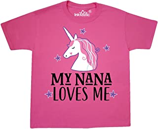 inktastic My Nana Loves Me Unicorn Youth T-Shirt