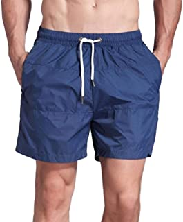 HOUJ Mens Drawstring Contrast Color Gym Workout Workout Outdoor Beach Shorts Boardshort