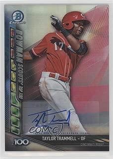 Taylor Trammell #/150 (Baseball Card) 2017 Bowman Chrome - Bowman Scouts Updates - Autographs [Autographed] #BSU-TT