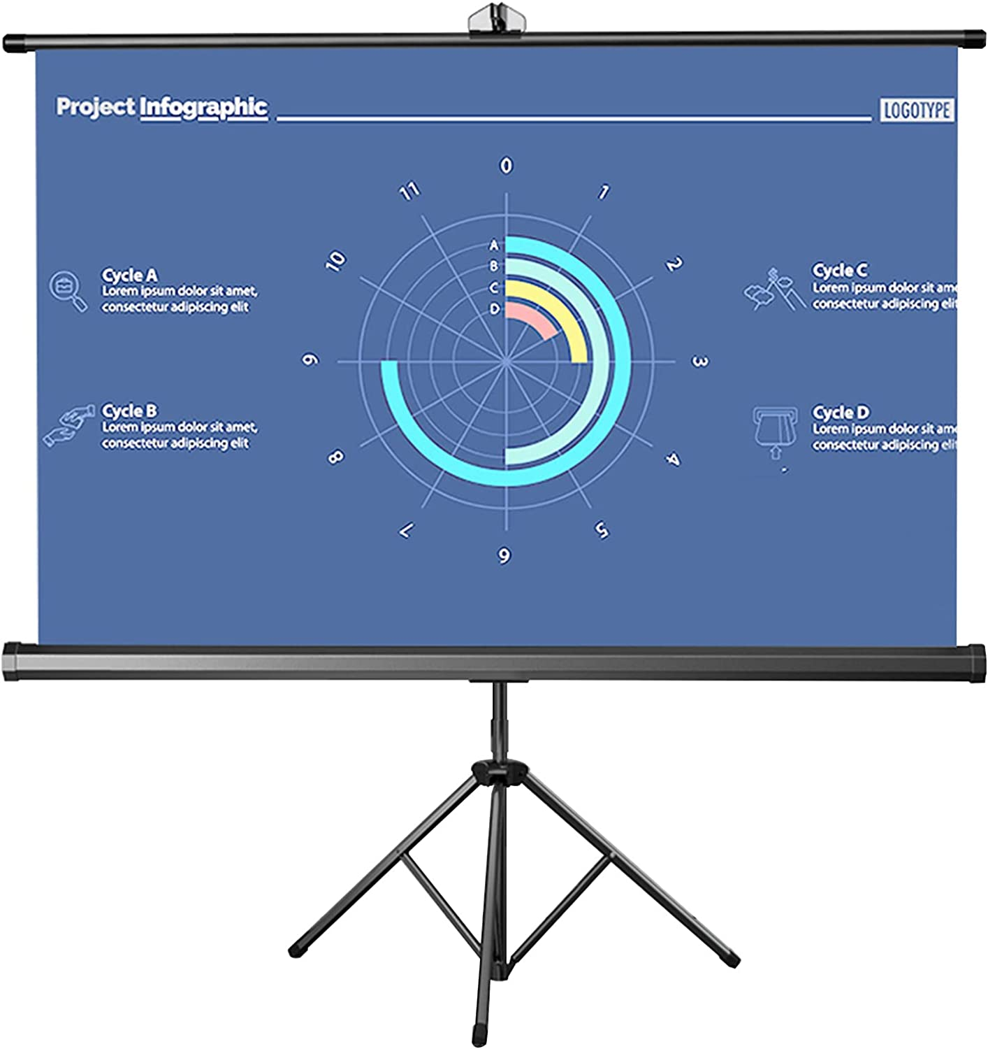 LIUU 60in Manufacturer direct delivery Outdoor Projector Screen S with Projection Max 88% OFF Video Stand