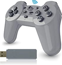JoyRetro 2.4ghz Wireless Controller for Playstation Classic Mini [Turbo Edition] Turbo Buttons, Controllers for Playstation Classic Mini [Compact & Ergonomic] (Playstation Classic.)